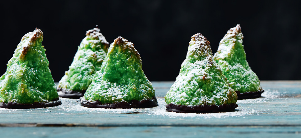 Fine kokosmakroner i julet udgave – find opskrift