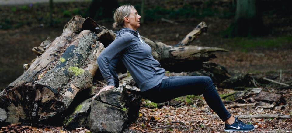 Gør din gåtur mere effektiv! Indlæg små øvelser undervejs