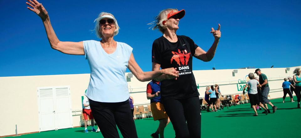 Dans med Parkinson har budt op til dans under sydens sol