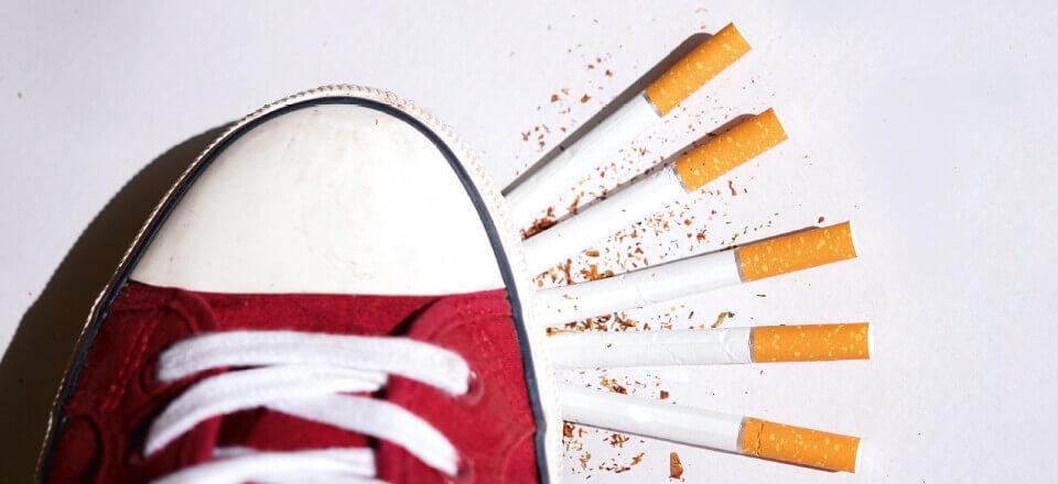 Rygning rammer fødderne