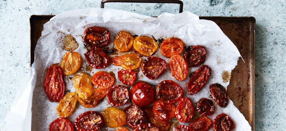 Stegte tomater med olivenolie