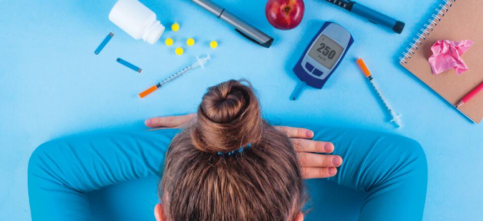 Medicin, mad og målinger stresser folk med diabetes